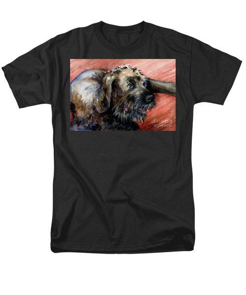 Men's T-Shirt  (Regular Fit) featuring the painting Bear by Lora Serra