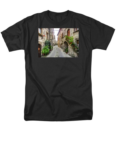Beautiful Alleyway In The Historic Town Of Vitorchiano, Lazio, I Men's T-Shirt  (Regular Fit) by JR Photography