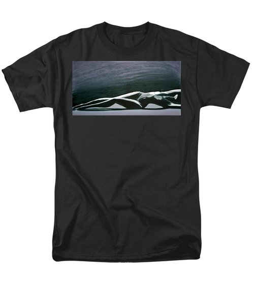 Men's T-Shirt  (Regular Fit) featuring the painting Beautiful Diver by Jarmo Korhonen aka Jarko
