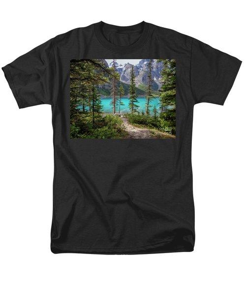 Beautiful Lake Moraine Men's T-Shirt  (Regular Fit) by Patricia Hofmeester