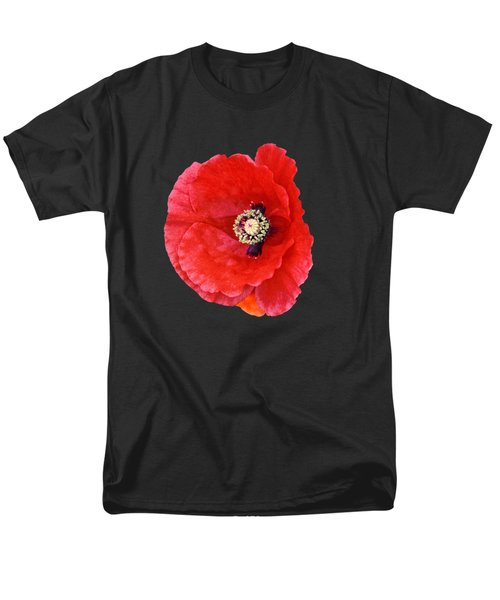 Men's T-Shirt  (Regular Fit) featuring the photograph Beautiful Red Poppy Papaver Rhoeas by Marianne Campolongo