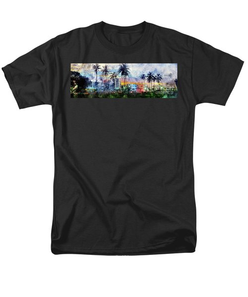 Beautiful South Beach Watercolor Men's T-Shirt  (Regular Fit) by Jon Neidert