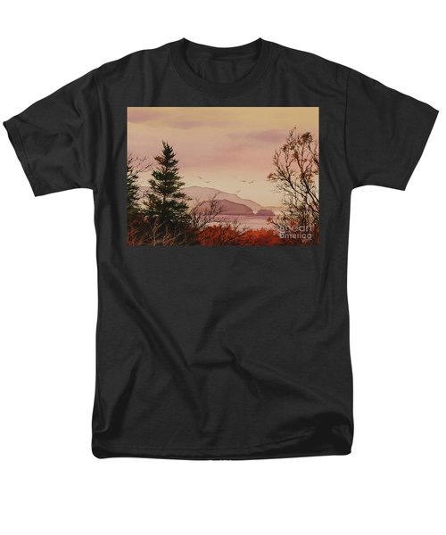 Men's T-Shirt  (Regular Fit) featuring the painting Beauty At The Shore by James Williamson