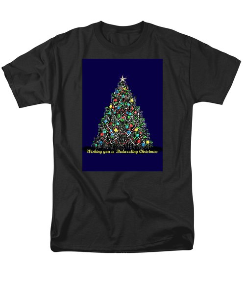 Men's T-Shirt  (Regular Fit) featuring the digital art Bedazzled Christmas Card by R  Allen Swezey