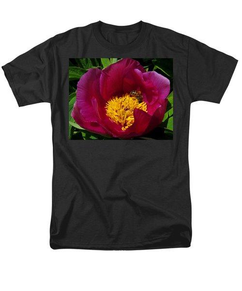 Bee On A Burgundy And Yellow Flower3 Men's T-Shirt  (Regular Fit) by John Topman