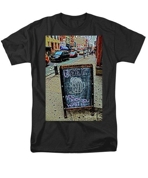 Beer Sign Men's T-Shirt  (Regular Fit) by Sandy Moulder
