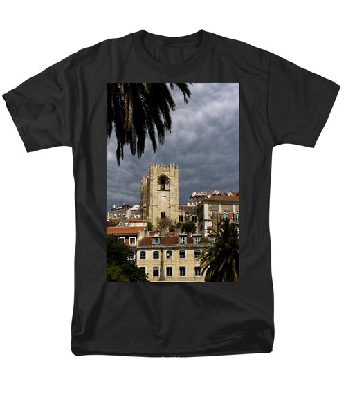Men's T-Shirt  (Regular Fit) featuring the photograph Bell Tower Against Roiling Sky by Lorraine Devon Wilke