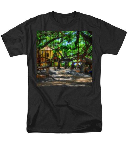 Beneath The Banyan Tree Men's T-Shirt  (Regular Fit) by DJ Florek