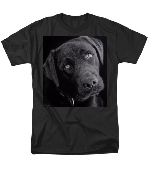 Men's T-Shirt  (Regular Fit) featuring the photograph Benji In Black And White by Wallaroo Images
