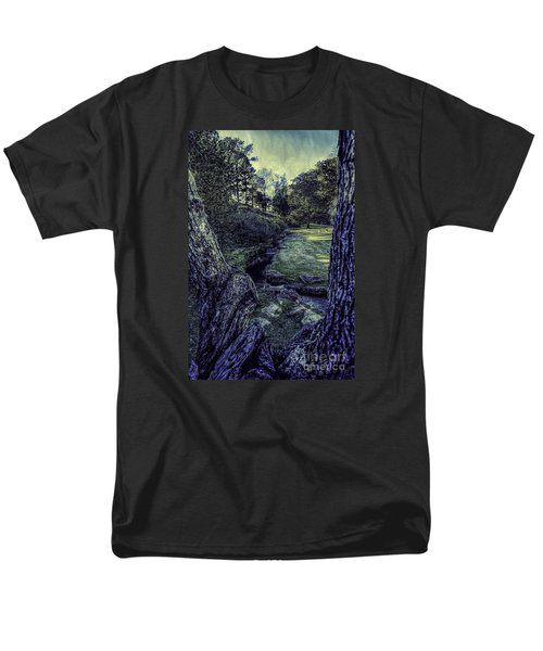 Men's T-Shirt  (Regular Fit) featuring the photograph Between The Branches by Ken Frischkorn
