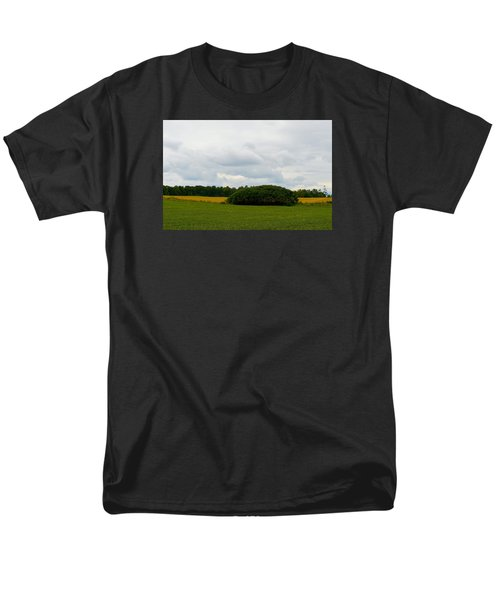 Men's T-Shirt  (Regular Fit) featuring the photograph Between The Fields by Lyle Crump