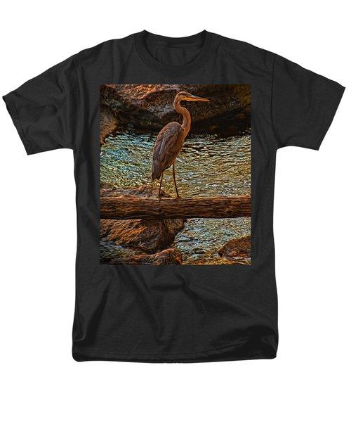 Big Falls Blue Heron Men's T-Shirt  (Regular Fit) by Trey Foerster