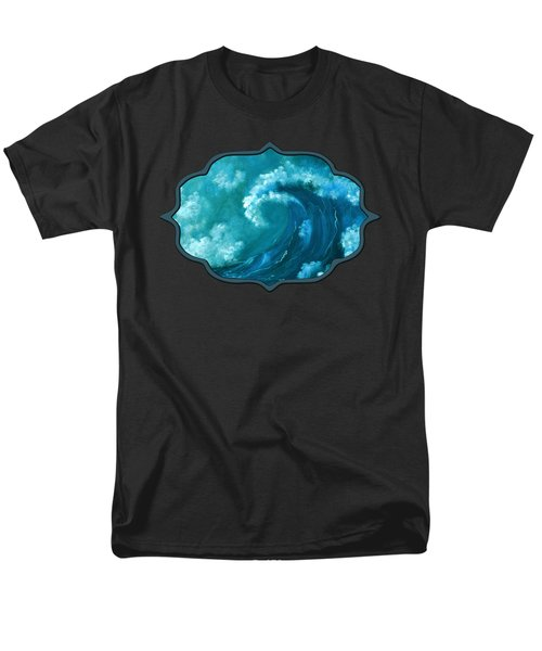 Men's T-Shirt  (Regular Fit) featuring the painting Big Wave by Anastasiya Malakhova