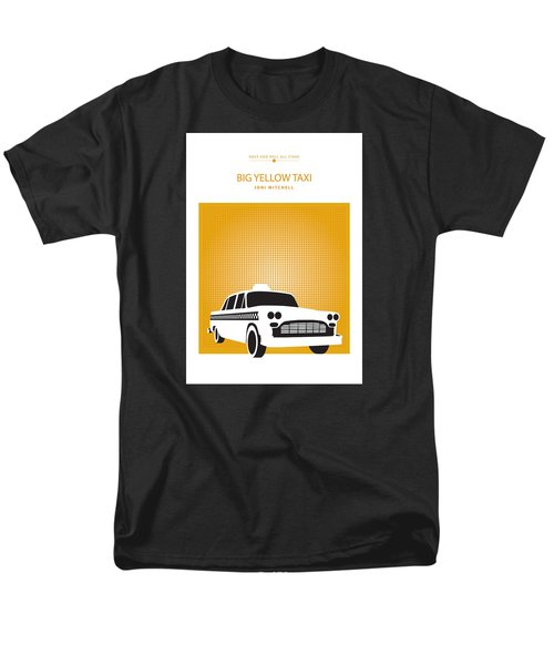 Men's T-Shirt  (Regular Fit) featuring the drawing Big Yellow Taxi -- Joni Michel by David Davies
