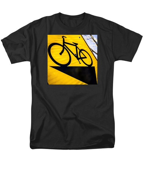 Men's T-Shirt  (Regular Fit) featuring the photograph Bike Sign by Wade Brooks
