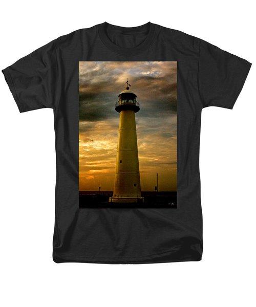 Biloxi Lighthouse Men's T-Shirt  (Regular Fit) by Scott Pellegrin