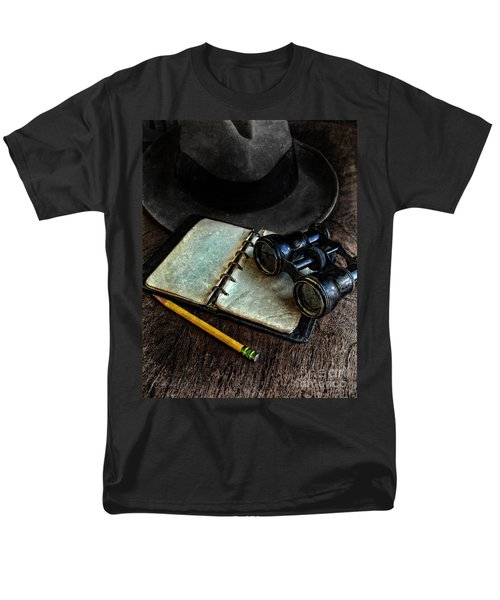 Binoculars Fedora And Notebook Men's T-Shirt  (Regular Fit) by Jill Battaglia