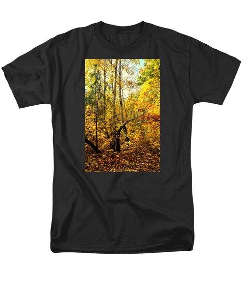 Birch Autumn Men's T-Shirt  (Regular Fit) by Henryk Gorecki