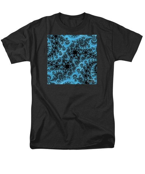 Men's T-Shirt  (Regular Fit) featuring the digital art Black And Blue Paisley by Elaine Teague