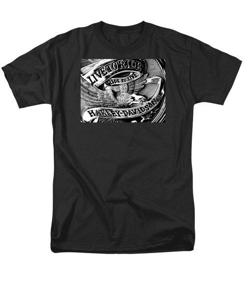 Black And White Emblem Men's T-Shirt  (Regular Fit) by Chris Berry