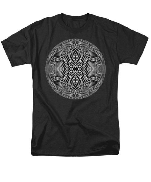 Black And White Mandala 10 Men's T-Shirt  (Regular Fit) by Robert Thalmeier