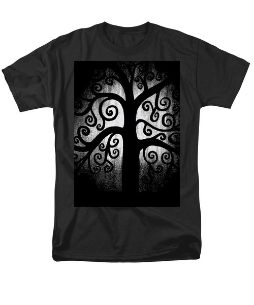 Black And White Tree Men's T-Shirt  (Regular Fit) by Angelina Vick