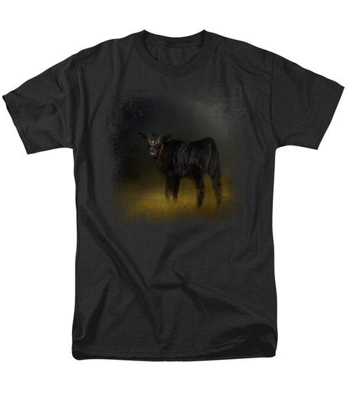 Black Angus Calf In The Moonlight Men's T-Shirt  (Regular Fit)