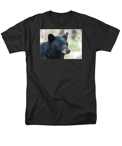 Black Bear Up Close Men's T-Shirt  (Regular Fit) by Stephen  Johnson