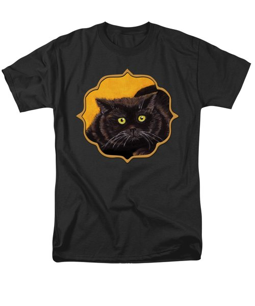Black Cat Men's T-Shirt  (Regular Fit) by Anastasiya Malakhova
