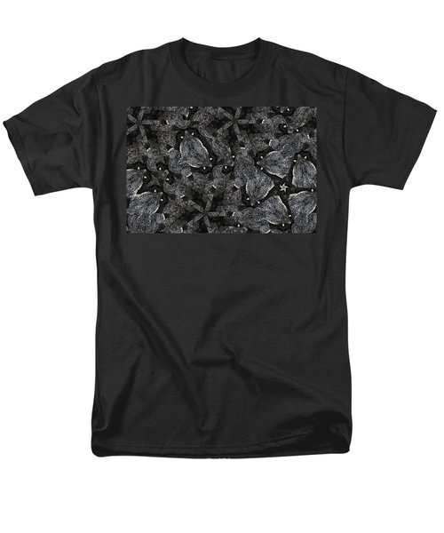 Men's T-Shirt  (Regular Fit) featuring the photograph Black Granite Kaleido 3 by Peter J Sucy