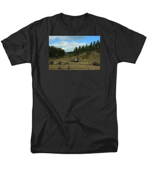 Black Hills Broken Down Cabin Men's T-Shirt  (Regular Fit) by Christopher Kirby