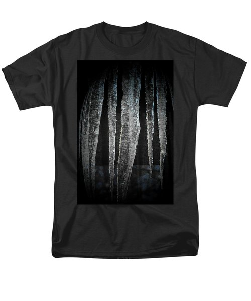 Men's T-Shirt  (Regular Fit) featuring the digital art Black Ice by Barbara S Nickerson