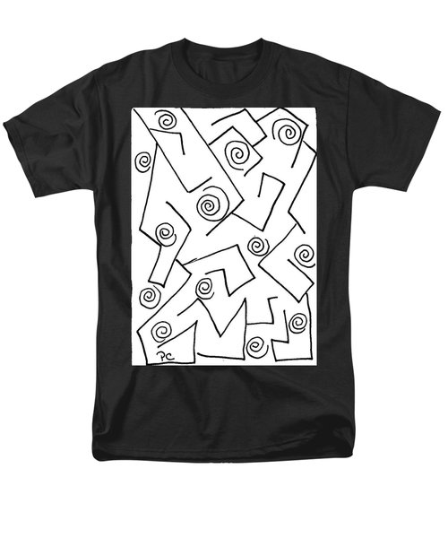 Black Ink Abstract Men's T-Shirt  (Regular Fit) by Patricia Cleasby