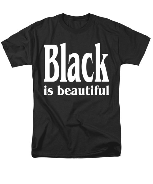 Black Is Beautiful - Tshirt Design Men's T-Shirt  (Regular Fit) by Art America Gallery Peter Potter
