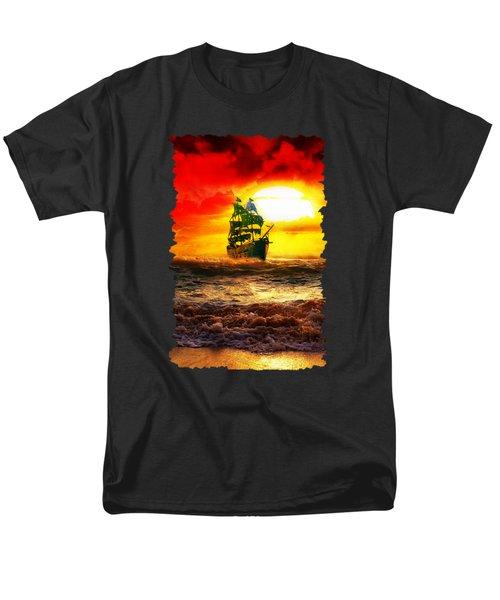 Black Pearl Men's T-Shirt  (Regular Fit) by Koko Priyanto
