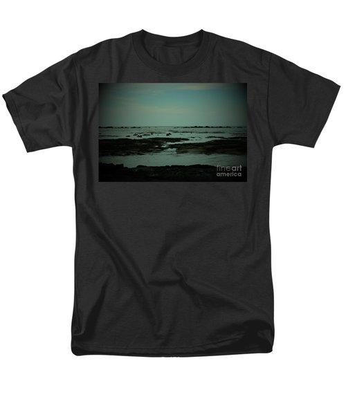 Black Rock Beach Men's T-Shirt  (Regular Fit) by Mini Arora