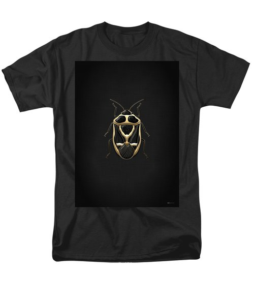 Black Shieldbug With Gold Accents  Men's T-Shirt  (Regular Fit) by Serge Averbukh