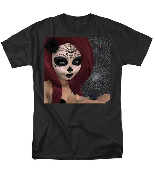 Black Widow Sugar Doll Men's T-Shirt  (Regular Fit) by Methune Hively