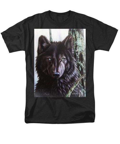 Black Wolf Men's T-Shirt  (Regular Fit) by Sandi Baker