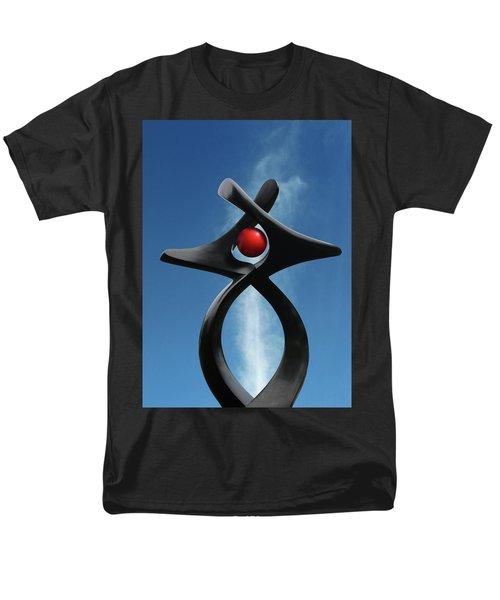 Men's T-Shirt  (Regular Fit) featuring the photograph Blackbird Sculpture by Christopher McKenzie