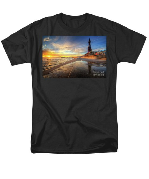 Men's T-Shirt  (Regular Fit) featuring the photograph Blackpool Sunset by Yhun Suarez
