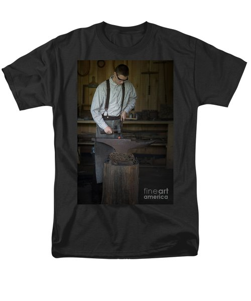 Blacksmith At Work Men's T-Shirt  (Regular Fit) by Liane Wright