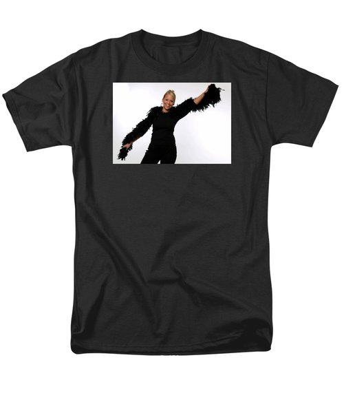 Men's T-Shirt  (Regular Fit) featuring the photograph Blonde With Boa by Bob Pardue