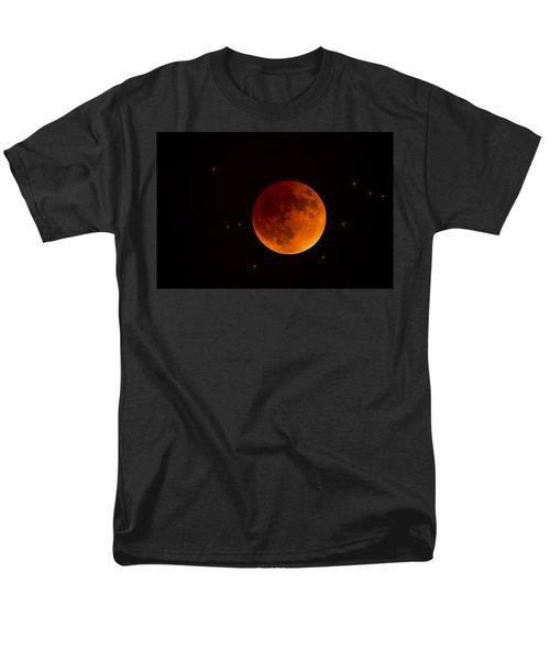 Blood Moon Lunar Eclipse 2015 Men's T-Shirt  (Regular Fit) by Saija  Lehtonen