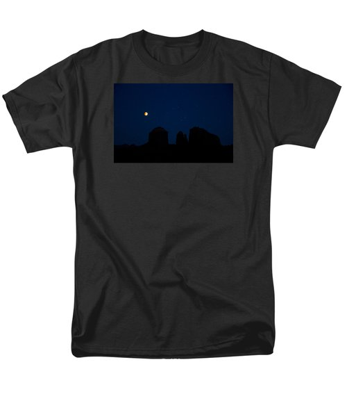 Blood Moon Over Cathedral Men's T-Shirt  (Regular Fit) by Tom Kelly