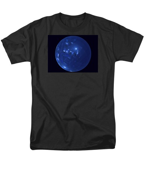 Blue Big Sphere With Squares Men's T-Shirt  (Regular Fit) by Ernst Dittmar