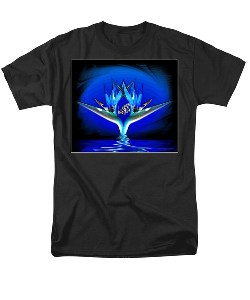 Men's T-Shirt  (Regular Fit) featuring the photograph Blue Bird Of Paradise by Joyce Dickens
