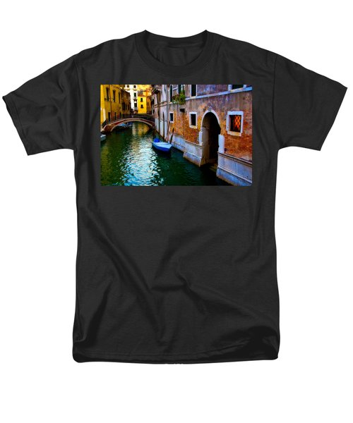 Blue Boat At Twilight Men's T-Shirt  (Regular Fit) by Harry Spitz