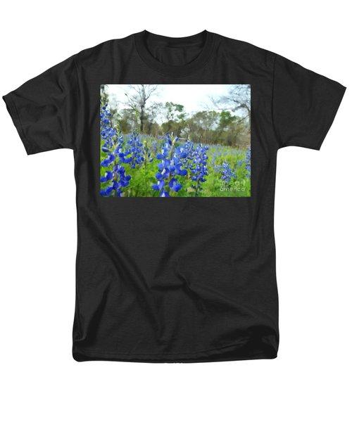 Blue Bonnet Explosion II Men's T-Shirt  (Regular Fit) by Carolina Liechtenstein
