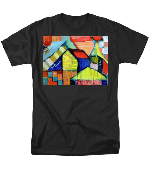 Men's T-Shirt  (Regular Fit) featuring the painting Blue Fin's Fresh Seafood by Susan Stone